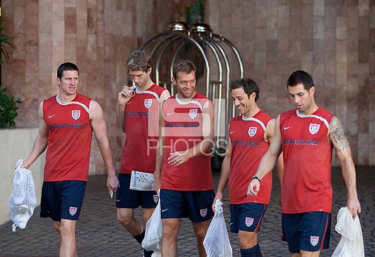 U.S. Men's National Team training in San Pedro Sula, Honduras.