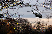 Marine One departs the South Lawn of the White House, November 26, 2011..Mandatory Credit: Pete Souza - White House via CNP