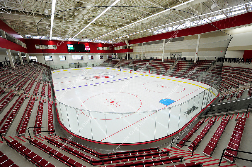 The University of Wisconsin's new LaBahn Arena is comprised of a single seating level for a more intimate spectator experience, picture here on Monday, 10/1/12, in Madison, Wisconsin
