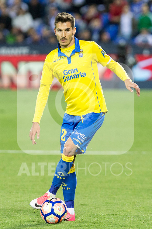 Helder Lopes of UD Las Palmas during the match of La Liga between Deportivo Leganes and Union Deportiva Las Palmas  Butarque Stadium  in Madrid, Spain. April 25, 2017. (ALTERPHOTOS/Rodrigo Jimenez)