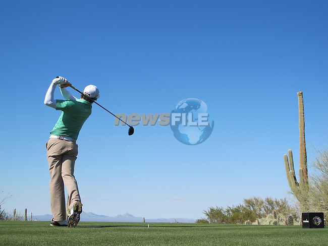 Rory McIlroy in action during Day 2 of the Accenture Match Play Championship from The Ritz-Carlton Golf Club, Dove Mountain. (Photo Eoin Clarke/Golffile 2011)
