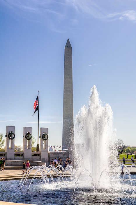 World War II Memorial Washington Monument  Washington DC Architecture