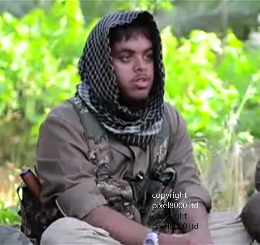 Pic shows: Reyaad Khan - Cardiff born ISIS fighter who has been killed by a British RAF drone strike in Syria<br /> on 21st August<br /> <br /> <br /> <br /> <br /> <br /> Picture by Pixel8000 07917221968
