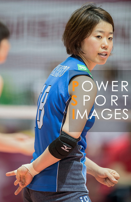 Wing spiker Mami Uchiseto of Japan reacts during the FIVB Volleyball World Grand Prix - Hong Kong 2017 match between Japan and Russia on 23 July 2017, in Hong Kong, China. Photo by Yu Chun Christopher Wong / Power Sport Images