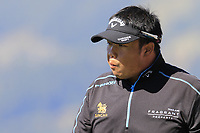 Kiradech Aphibarnrat (THA) on the 7th tee during Saturday's Round 3 of the 2018 Omega European Masters, held at the Golf Club Crans-Sur-Sierre, Crans Montana, Switzerland. 8th September 2018.<br /> Picture: Eoin Clarke | Golffile<br /> <br /> <br /> All photos usage must carry mandatory copyright credit (&copy; Golffile | Eoin Clarke)