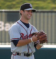 Infielder Tommy LaStella (22) of the Rome Braves, Class A affiliate of the Atlanta Braves, prior to a game against the Greenville Drive on July 17, 2011, at Fluor Field at the West End in Greenville, South Carolina. (Tom Priddy/Four Seam Images)