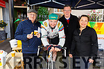 John O'Driscoll, Tommy Sheehy, Michael Healy and Monika Czuk supporting the Spinathon for Enable Ireland at Chopin's Restuarant on Tuesday.