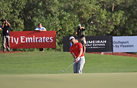 Jon Rahm (ESP) on the 18th during Round 4 of the DP World Tour Championship 2017, at Jumeirah Golf Estates, Dubai, United Arab Emirates. 19/11/2017<br /> Picture: Golffile | Thos Caffrey<br /> <br /> <br /> All photo usage must carry mandatory copyright credit     (© Golffile | Thos Caffrey)