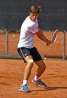 Netherlands, Rotterdam August 05, 2015, Tennis,  National Junior Championships, NJK, TV Victoria, Luuk Wassenaar<br /> Photo: Tennisimages/Henk Koster
