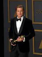 09 February 2020 - Hollywood, California - Brad Pitt attends the 92nd Annual Academy Awards presented by the Academy of Motion Picture Arts and Sciences held at Hollywood & Highland Center. Photo Credit: Theresa Shirriff/AdMedia