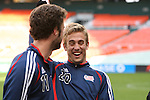 17 November 2007: Taylor Twellman (20) and Pat Noonan (11). The New England Revolution practiced at RFK Stadium in Washington, DC one day before playing in MLS Cup 2007, Major League Soccer's championship game.