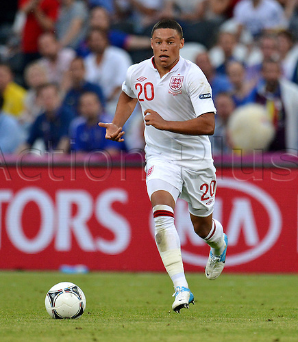 England's Alex Oxlade-Chamberlain during UEFA EURO 2012 group D soccer match France vs England at Donbass Arena in Donetsk, the Ukraine, 11 June 2012.