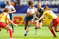 Joanna Sainlo of France during the women's HSBC Paris Sevens match between France and Spain, Rugby Sevens World Series at Stade Jean Bouin on June 8, 2018 in Paris, France. (Photo by Sandra Ruhaut/Icon Sport)