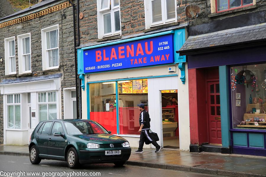 Take Away fast food business, Blaenau Ffestiniog, Gwynedd, north Wales, UK