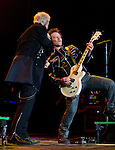 Guitarist Billy Morrison performs with Billy Idol in concert in the Grand Sierra Resort's Grand Theatre on Friday night, August 7, 2015.