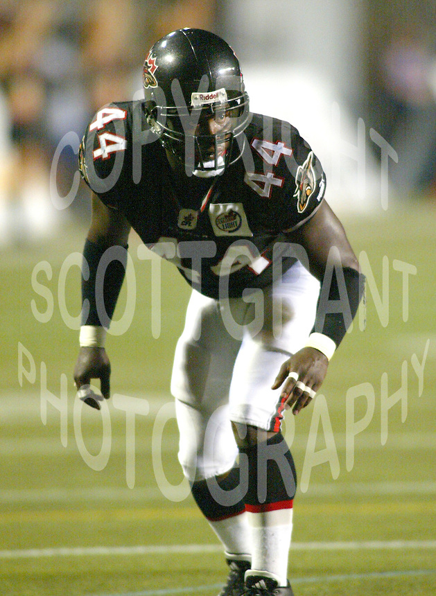 Derrick Ford Ottawa Renegades 2003. Photo Scott Grant