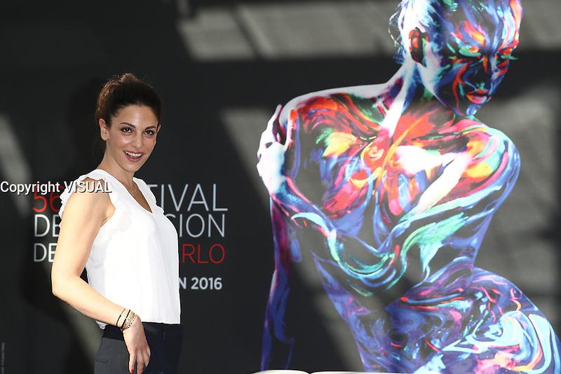 NOEMIE ELBAZ - PHOTOCALL CAMPING PARADIS - 56E FESTIVAL DE TELEVISION DE MONTE-CARLO 2016