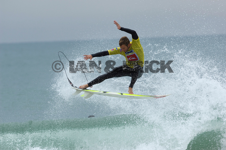 Troy Brooks in the Semi Final during the Quiksilver Pro in Hossegor, france.