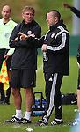 John Dungworth and Travis Binnion coach of Sheffield Utd during the U23 Professional Development League Two match at the Local Look Stadium, Sheffield. Picture date: September 26th, 2016. Pic Simon Bellis/Sportimage