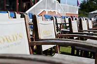 Lords chairs at the Radley ground prior to  Middlesex vs Essex Eagles, Royal London One-Day Cup Cricket at Radlett Cricket Club on 17th May 2018