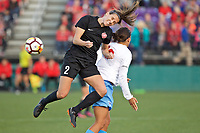 Portland, OR - Sunday March 11, 2018: Katherine Reynolds during a National Women's Soccer League (NWSL) pre season match between the Portland Thorns FC and the Chicago Red Stars at Merlo Field.