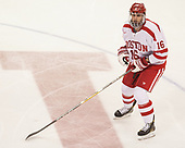 John MacLeod (BU - 16) - The Boston University Terriers defeated the University of Massachusetts Minutemen 3-1 on Friday, February 3, 2017, at Agganis Arena in Boston, Massachusetts.The Boston University Terriers defeated the visiting University of Massachusetts Amherst Minutemen 3-1 on Friday, February 3, 2017, at Agganis Arena in Boston, MA.