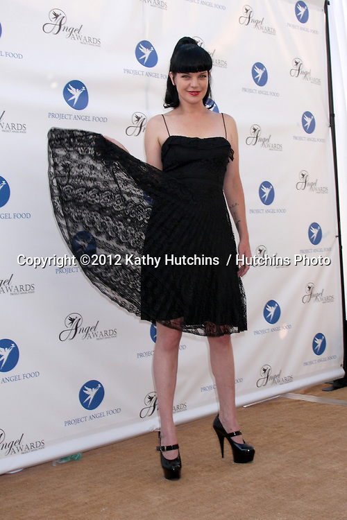 LOS ANGELES - AUG 18:  Pauley Perrette arrives at the 17th Annual Angel Awards at Project Angel Food on August 18, 2012 in Los Angeles, CA