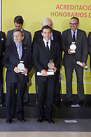 Actor Antonio Banderas pose after the ceremony to designate ambassadors of the Brand Spain. February 12, 2013. (ALTERPHOTOS/Alvaro Hernandez) /NortePhoto