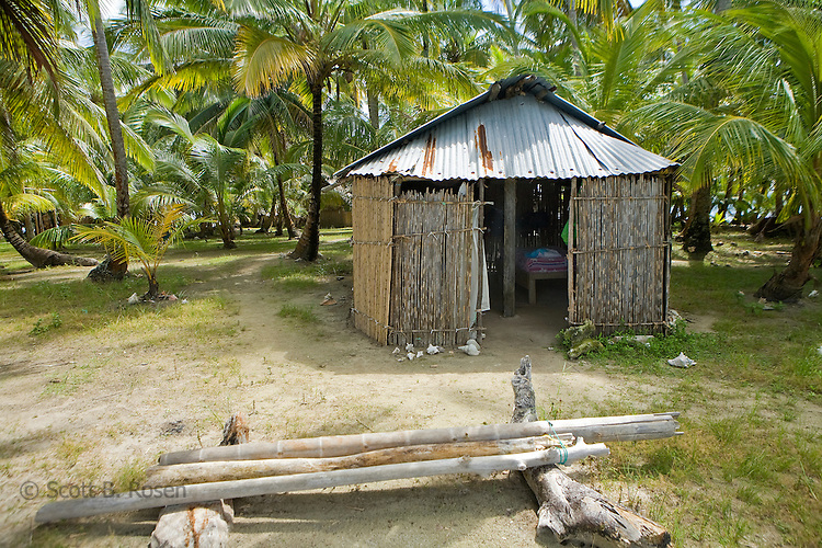 A bamboo hut on Isla Pelikano, San Blas Islands, Kuna Yala, Panama