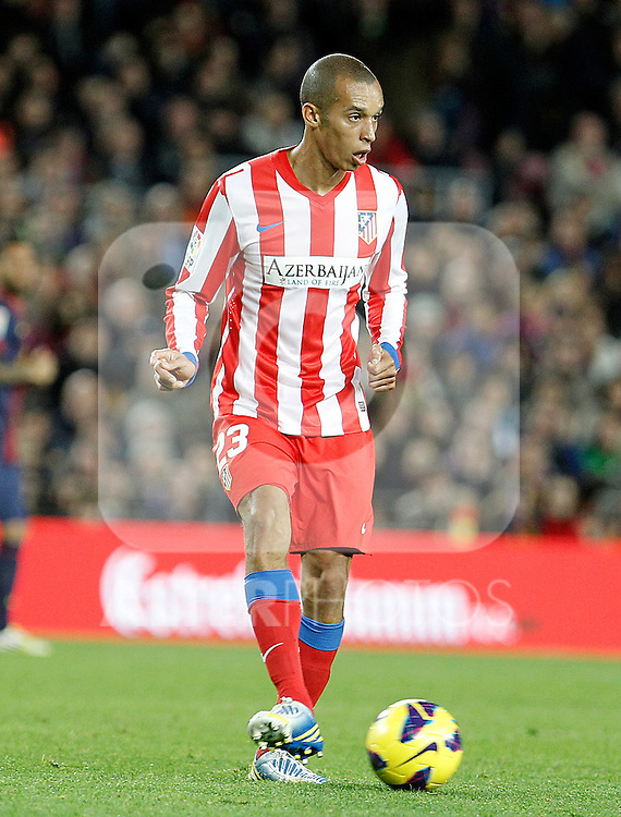 Atletico de Madrid's Joao Miranda during La Liga match.December 16,2012. (ALTERPHOTOS/Acero)