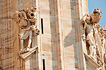 Duomo (Cathedral) facade detail of a statues that are also a rain spouts
