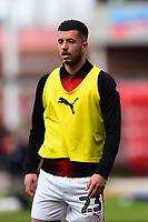Barnsley's Daniel Pinillos warms up<br /> <br /> Photographer Richard Martin-Roberts/CameraSport<br /> <br /> The EFL Sky Bet League One - Barnsley v Fleetwood Town - Saturday 13th April 2019 - Oakwell - Barnsley<br /> <br /> World Copyright &not;&copy; 2019 CameraSport. All rights reserved. 43 Linden Ave. Countesthorpe. Leicester. England. LE8 5PG - Tel: +44 (0) 116 277 4147 - admin@camerasport.com - www.camerasport.com