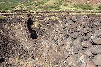 Rock wall, Kaupo, Maui