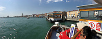 Venice, Italy - 15th Architecture Biennale 2016, &quot;Reporting from the Front&quot;.<br /> Aboard a vaporetto.