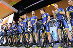 Orica-Scott team on stage at the Team Presentation in Burgplatz Dusseldorf before the 104th edition of the Tour de France 2017, Dusseldorf, Germany. 29th June 2017.<br /> Picture: Eoin Clarke | Cyclefile<br /> <br /> <br /> All photos usage must carry mandatory copyright credit (&copy; Cyclefile | Eoin Clarke)