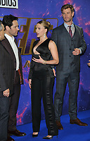 """Paul Rudd, Scarlett Johansson and Chris Hemsworth at the """"Avengers: Endgame"""" UK fan event, Picturehouse Central, Corner of Shaftesbury Avenue and Great Windmill Street, London, England, UK, on Wednesday 10th April 2019. <br /> CAP/CAN<br /> ©CAN/Capital Pictures"""