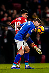 Inigo Martinez of Athletic de Bilbao (R)  fights for the ball with Angel Correa of Atletico de Madrid during the La Liga 2018-19 match between Atletico de Madrid and Athletic de Bilbao at Wanda Metropolitano, on November 10 2018 in Madrid, Spain. Photo by Diego Gouto / Power Sport Images