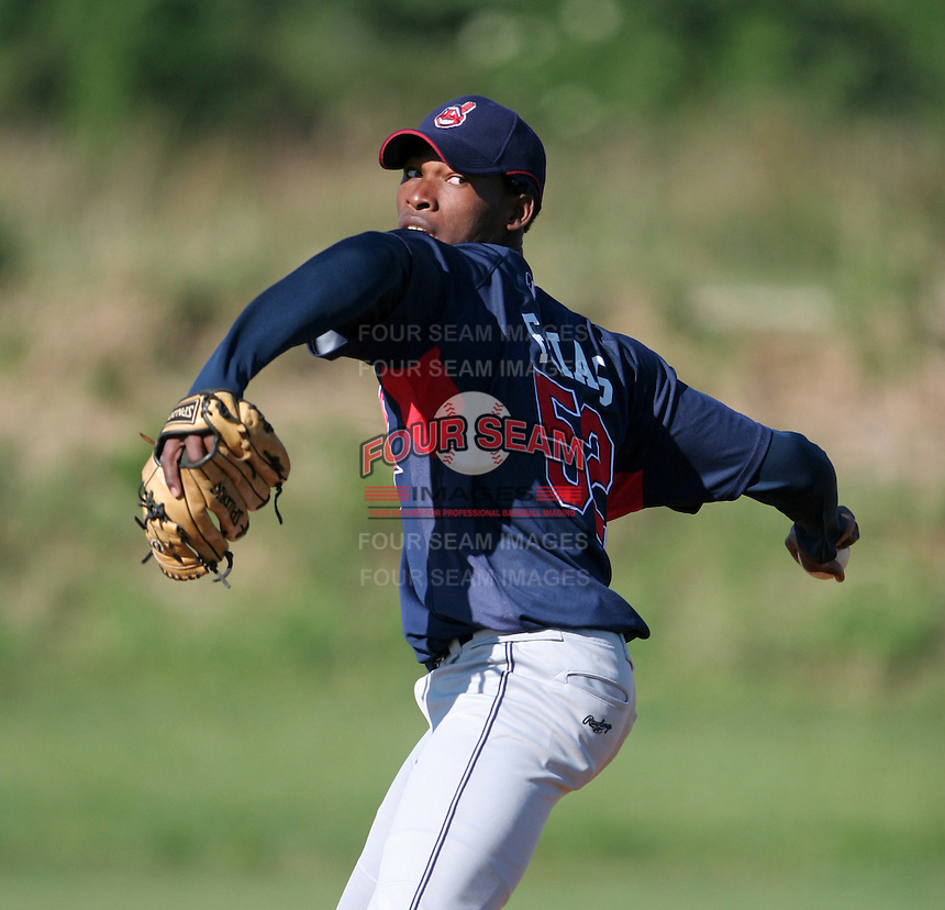 Cleveland Indians minor leaguer Santo Friaz during Spring Training at the Chain of Lakes Complex on March 17, 2007 in Winter Haven, Florida.  (Mike Janes/Four Seam Images)