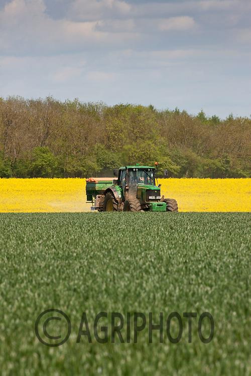 Applying nitrogen to Winter Wheat