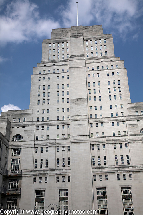 Senate House, University of London, the Art Deco building was constructed between 1932 and 1937  by Charles Holden. George Orwell based his 1984 Ministry of Truth on this building standing as it does high above the city.