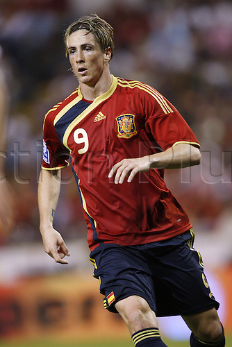 Fernando Torres (ESP), 5th September 2009 - Football : FIFA 2010 World Cup Qualifier match between Spain and Belgium at the Riazor stadium in La Coruna, Spain. (Photo by Daisuke Nakashima/ActionPlus) UK Licenses Only.UK Licenses Only.
