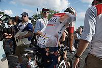 Reto Hollenstein (SUI/IAM) after crashing in the last stage<br /> <br /> Final stage 21 - Chantilly › Paris/Champs Elysées (113km)<br /> 103rd Tour de France 2016