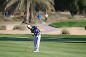 Tommy Fleetwood (ENG) plays his 2nd shot on the 16th hole during Sunday's Final Round of the 2013 Omega Dubai Desert Classic held at the Emirates Golf Club, Dubai, 3rd February 2013..Photo Eoin Clarke/www.golffile.ie