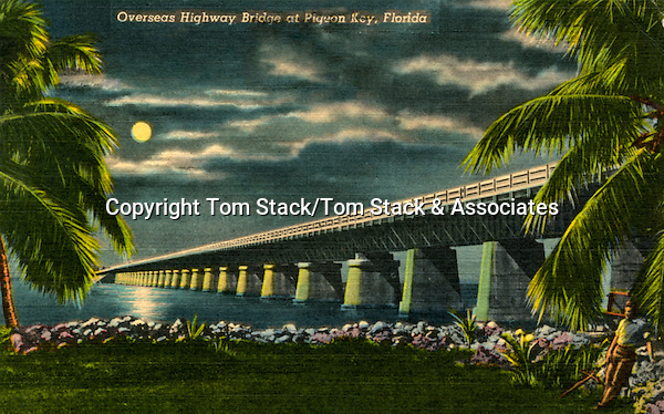 Historic Overseas Highway through Pigeon Key, Florida Keys