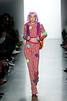 Jeremy Scott<br /> Gigi Hadid<br /> New York Fashion Week <br /> FW18<br /> <br /> New York Fashion Week,  New York, USA in February 2018.<br /> CAP/GOL<br /> &copy;GOL/Capital Pictures