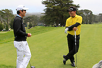 Y.E.Yang and K.T.Kim (KOR) on the 9th tee during Wednesday's Practice Day of the 112th US Open Championship at The Olympic Club, San Francisco,  California, 13th June 2012 (Photo Eoin Clarke/www.golffile.ie)