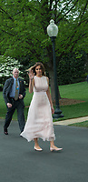 Washington DC, April 17,2017, USA: President Donald J Trump and First Lady Melania Trump welcome visitors to the South Lawn of the White House for the 139th Annual Easter Egg roll and event in Washington DC. Patsy Lynch/MediaPunch<br /> CAP/MPI/LYN<br /> &copy;LYN/MPI/Capital Pictures