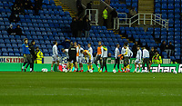 Leeds United during the pre-match warm-up <br /> <br /> Photographer David Horton/CameraSport<br /> <br /> The EFL Sky Bet Championship - Reading v Leeds United - Tuesday 12th March 2019 - Madejski Stadium - Reading<br /> <br /> World Copyright &copy; 2019 CameraSport. All rights reserved. 43 Linden Ave. Countesthorpe. Leicester. England. LE8 5PG - Tel: +44 (0) 116 277 4147 - admin@camerasport.com - www.camerasport.com