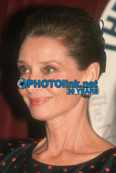 Audrey Hepburn, 1989, Photo By John Barrett/PHOTOlink