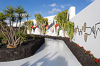 Spain, Canary Island, Lanzarote, Taro de Tahiche: Mosaic of César Manrique at Fundacion Cesar Manrique | Spanien, Kanarische Inseln, Lanzarote, Taro de Tahiche: Mosaik von César Manrique in der Stiftung - Fundación César Manrique